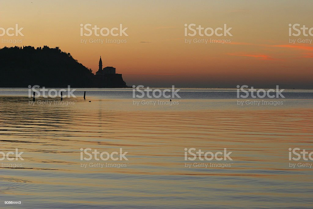 Church silhouette royalty-free stock photo
