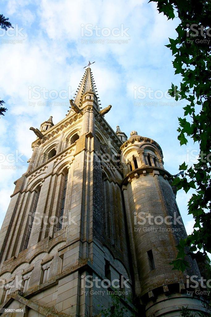 Church Spire In France stock photo