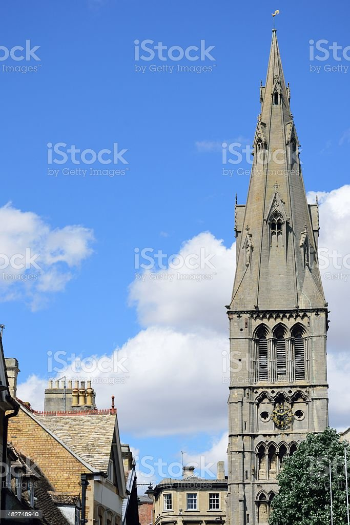 Church spire stamford Lincolnshire stock photo