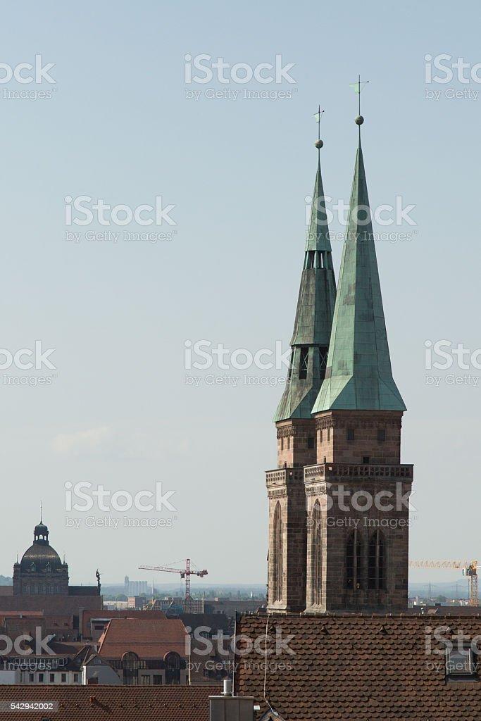 church spires stock photo