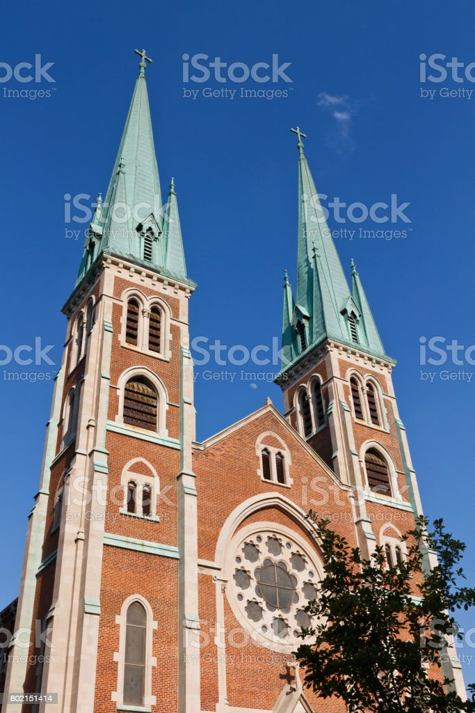 Church spires stock photo