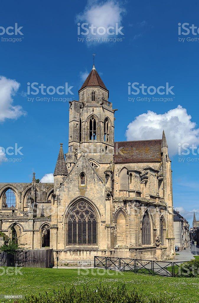 Church St. Etienne-le-Vieux, Caen, France stock photo