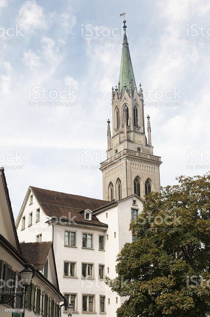 church St. Laurenzen in Saint Gall Switzerland stock photo