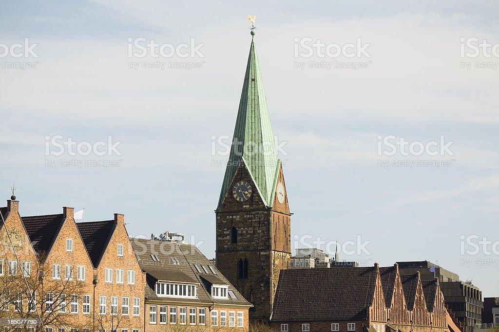 Church St. Martini in Bremen royalty-free stock photo