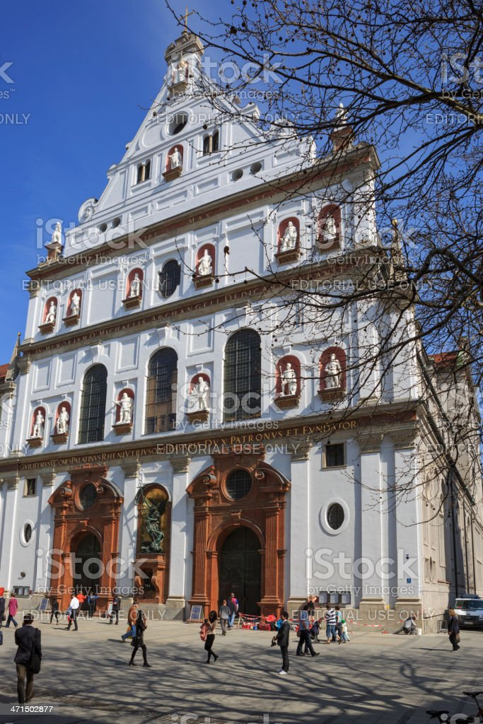 Church St. Michael in Munich center royalty-free stock photo