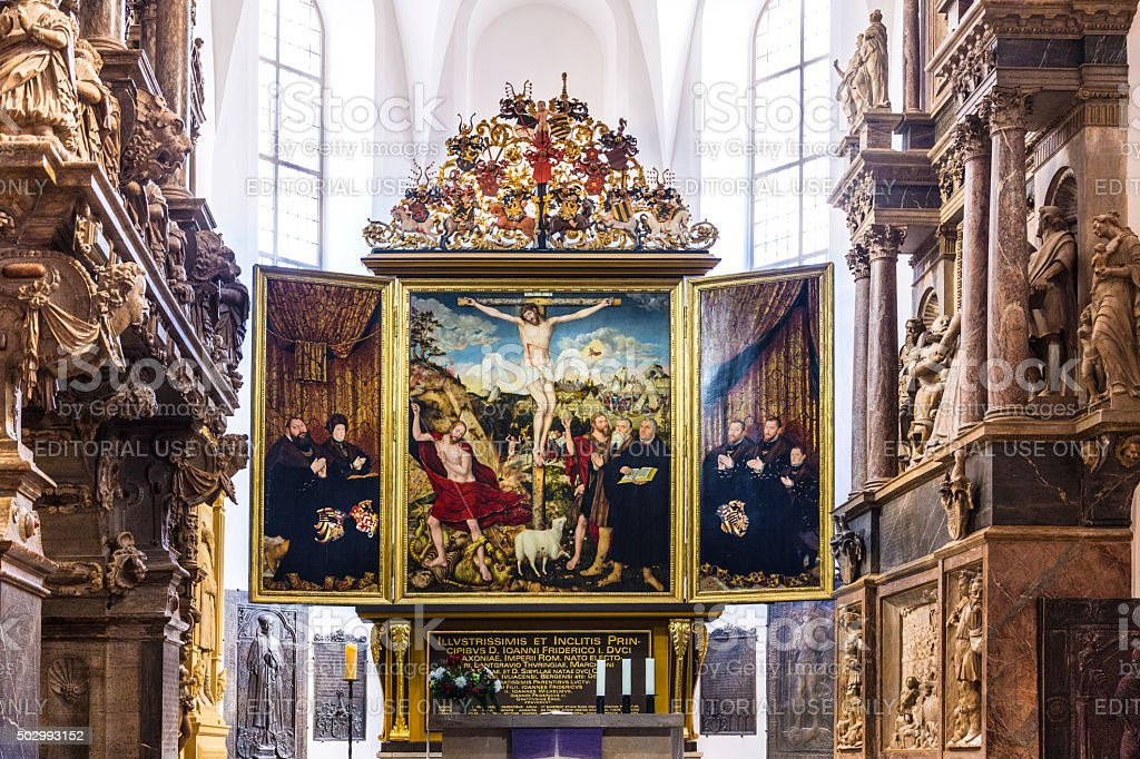Church St. Peter and Paul. Weimar, Thuringia stock photo