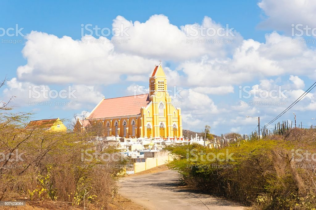 Church St Willibrordus on the Island of Curacao stock photo