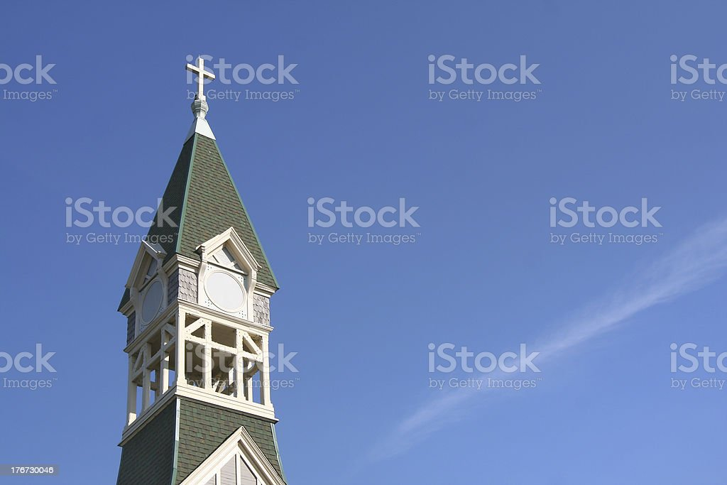 Church steeple and bell tower royalty-free stock photo