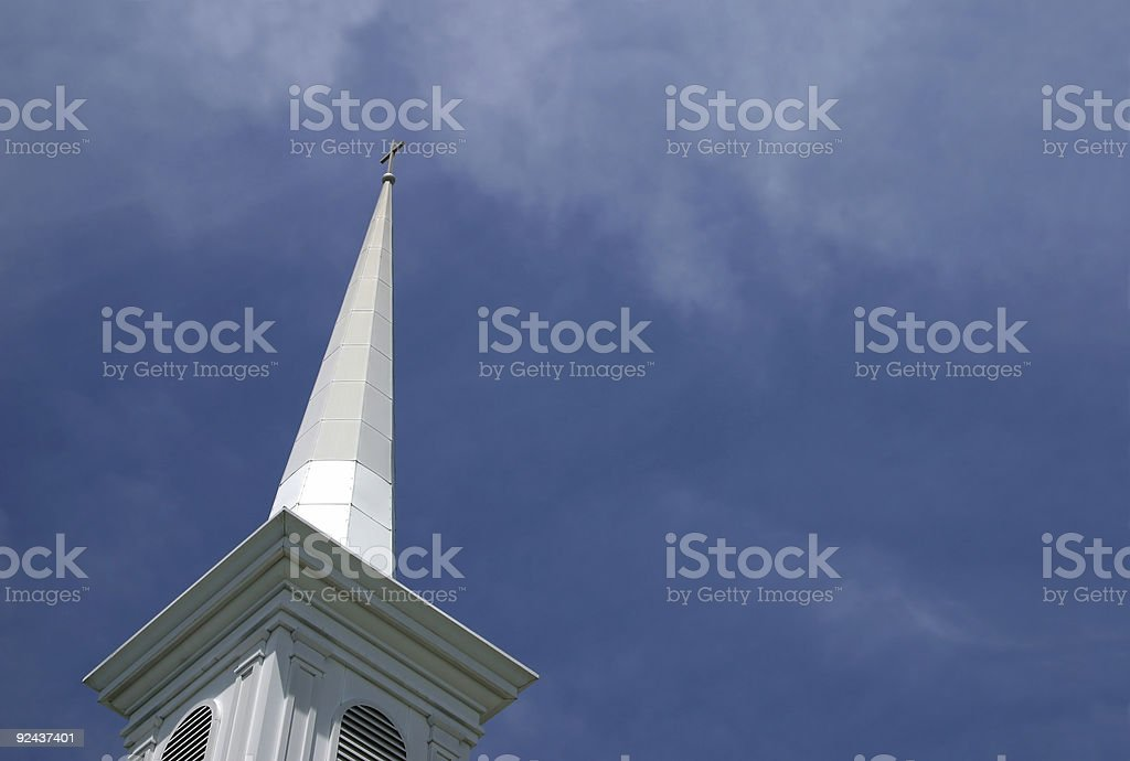 Church Steeple and Sky royalty-free stock photo