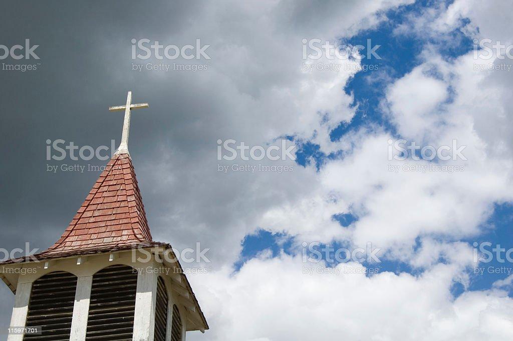 Church Steeple and Vivid Sky royalty-free stock photo