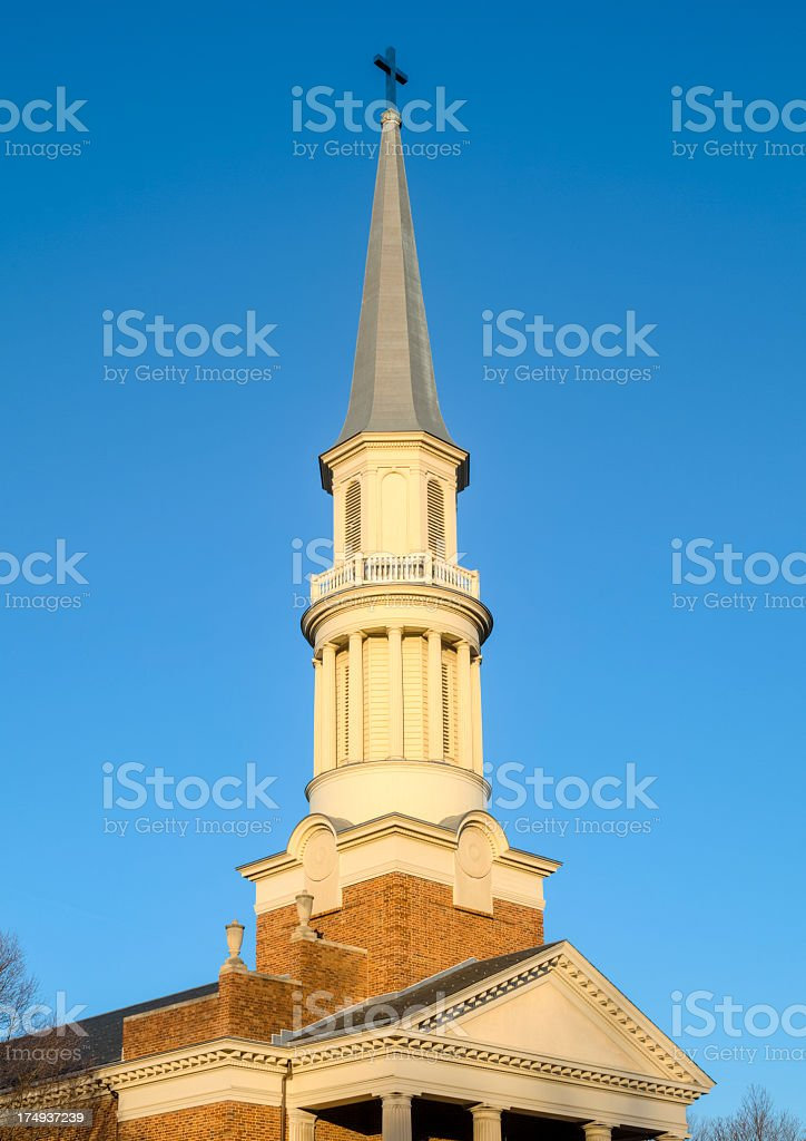 Church Steeple in the Sunlight royalty-free stock photo