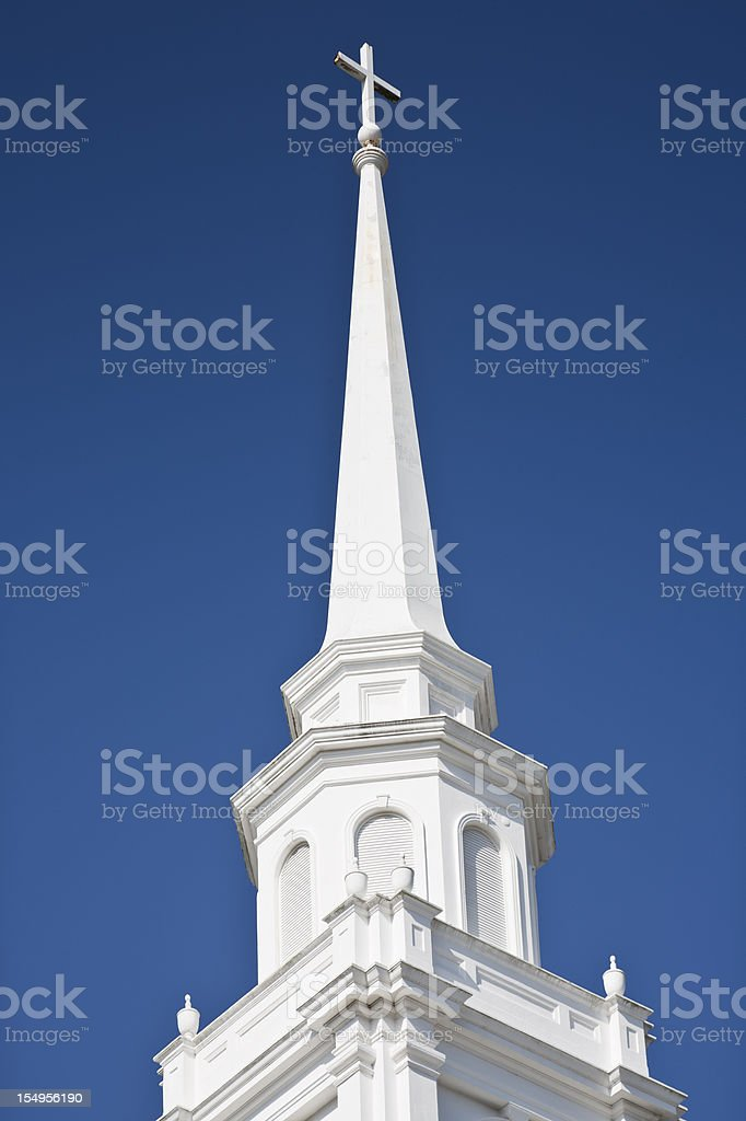 Church Steeple stock photo