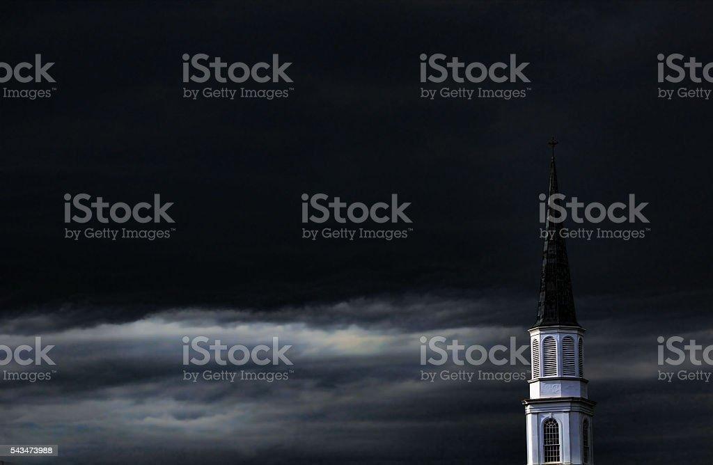church steeple stock photo