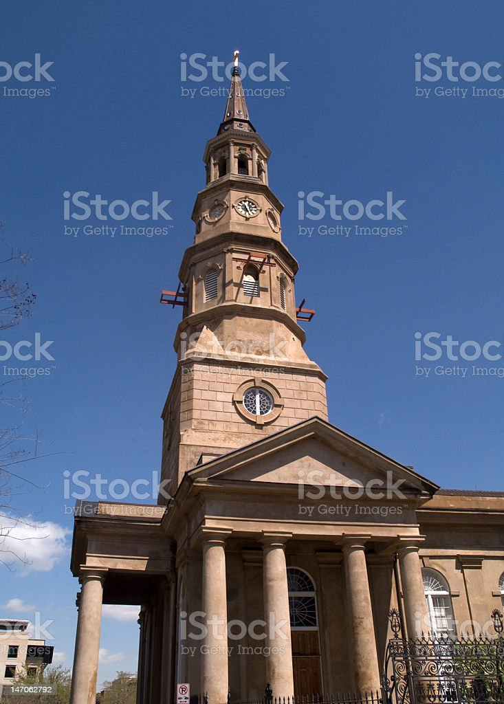 Church Steeple Under Repair royalty-free stock photo