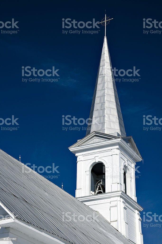 Church steeple with polarizer royalty-free stock photo