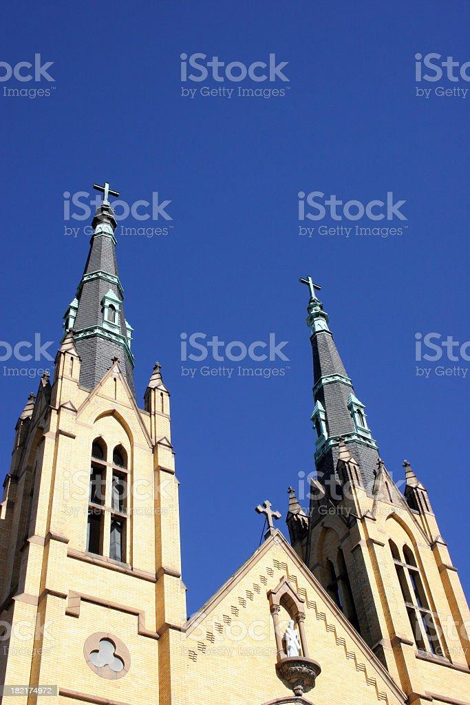 Church steeples. stock photo