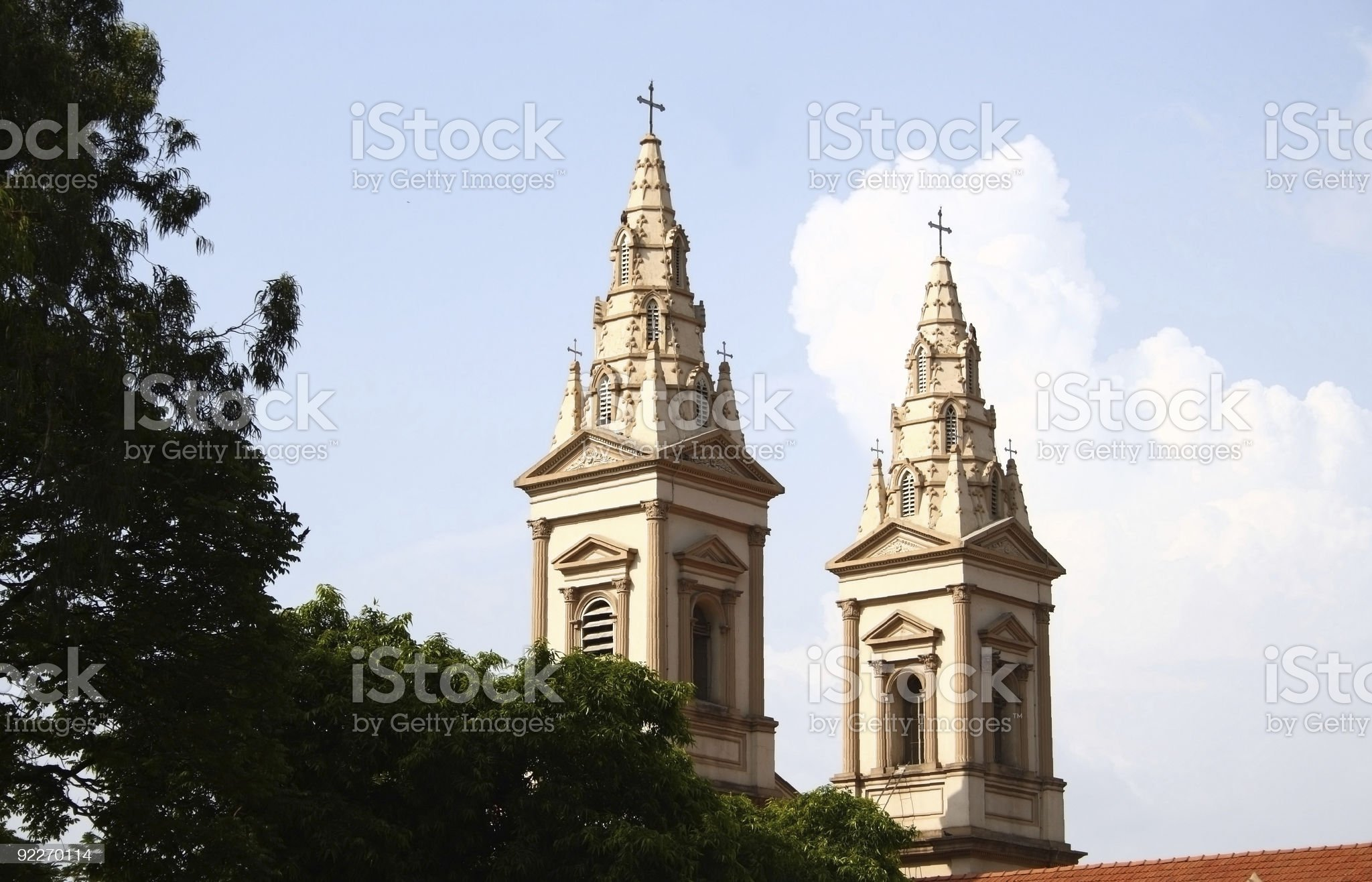 Church steeples royalty-free stock photo