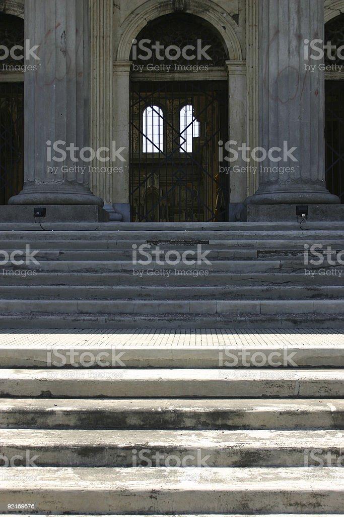 Church steps royalty-free stock photo