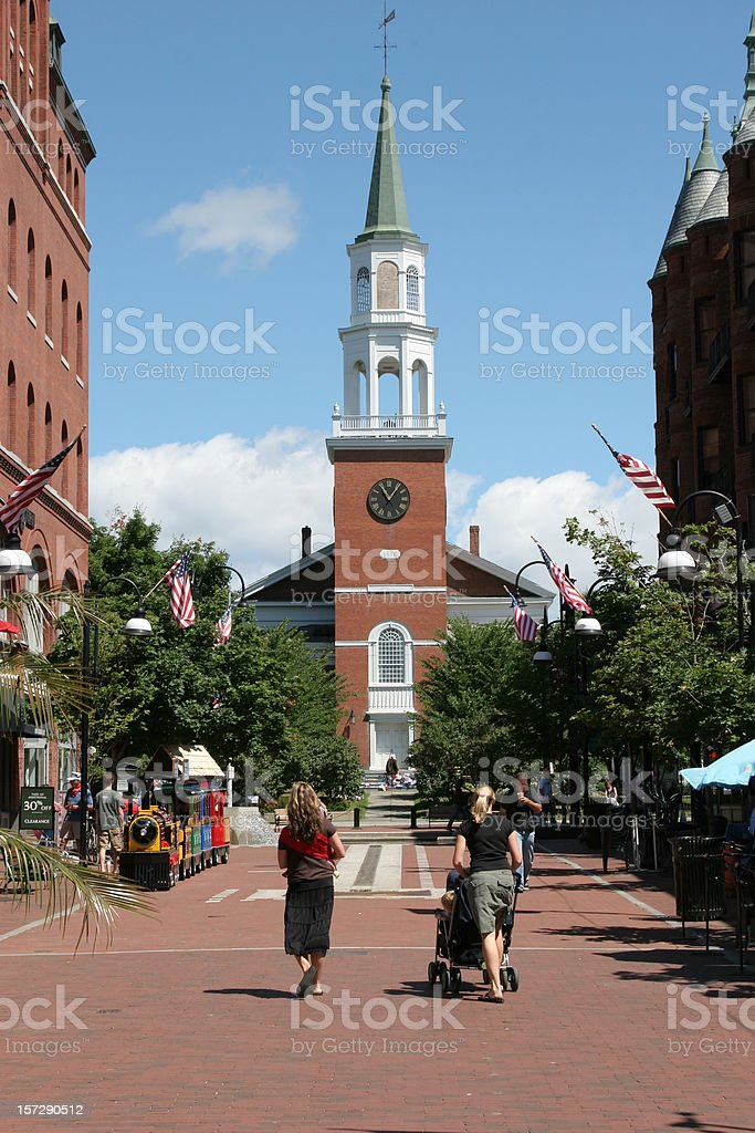 Church Street Marketplace royalty-free stock photo