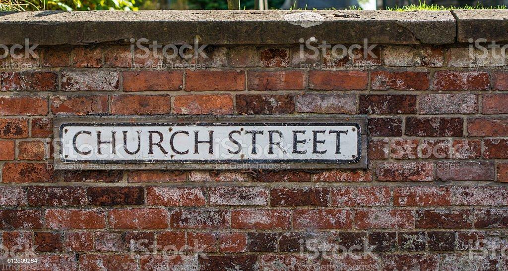 Church Street royalty-free stock photo
