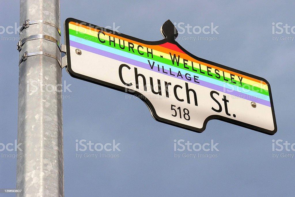Church Street sign stock photo