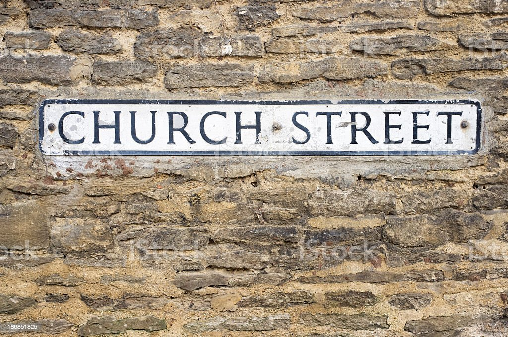 Church Street Sign royalty-free stock photo
