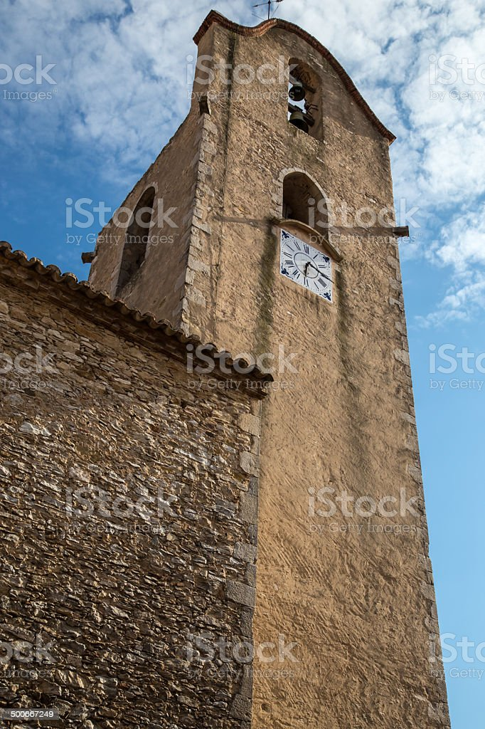 church street view from begur in costa brava stock photo