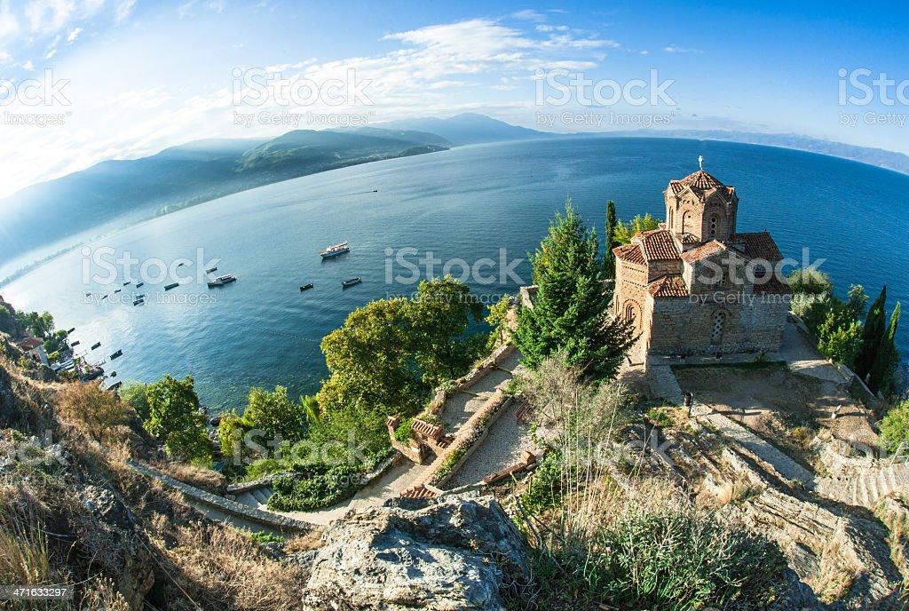 Church Sveti Jovan Kaneo Ohrid stock photo