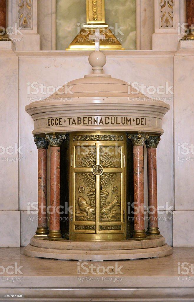 church tabernacle stock photo