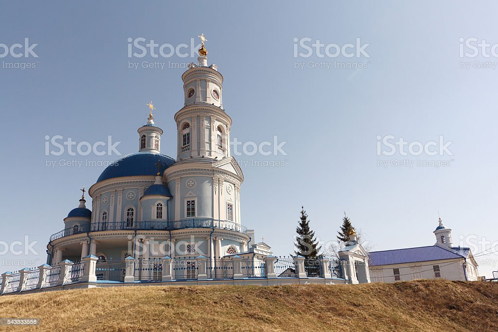 Church  the Kazan icon of the Mother of God, Russia stock photo