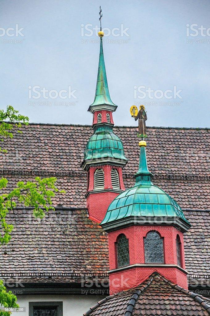 Church Top Architecture stock photo