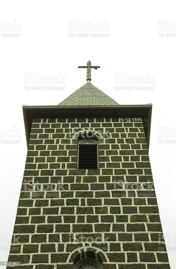 Church Tower in Brazil stock photo
