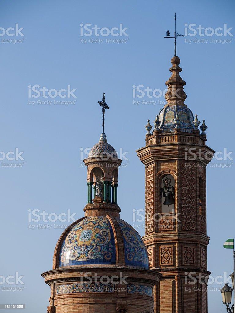 Church tower in Sevillia, Spain royalty-free stock photo