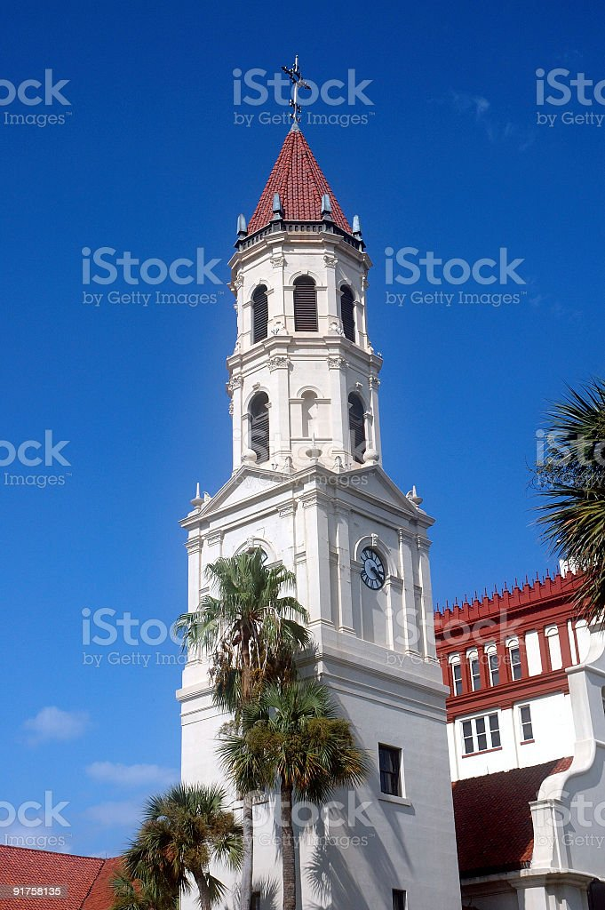 Church Tower in St. Augustine royalty-free stock photo
