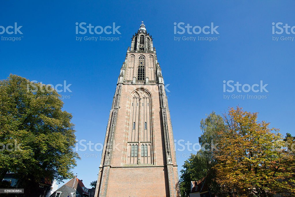 Church tower of Amersfoort stock photo