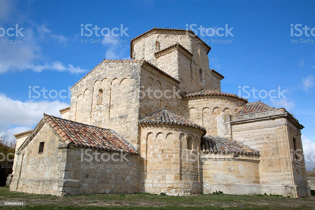 Church, Uruena, Valladolid stock photo