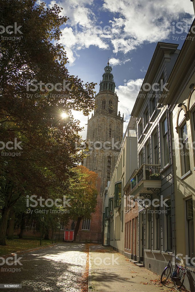 Church view in Martinitoren, Groningen, Netherlands stock photo