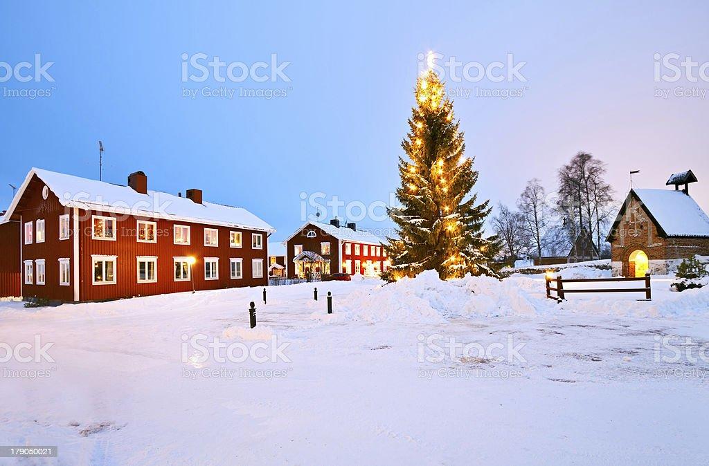 Church Village of Gammelstad stock photo
