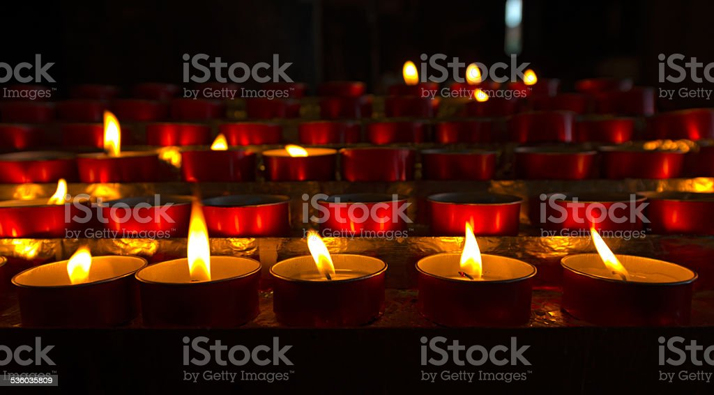 Church - Votive Candles stock photo