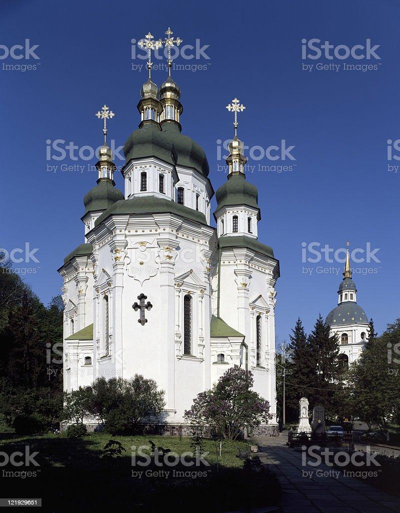 Kirche Vydubychi Lizenzfreies stock-foto