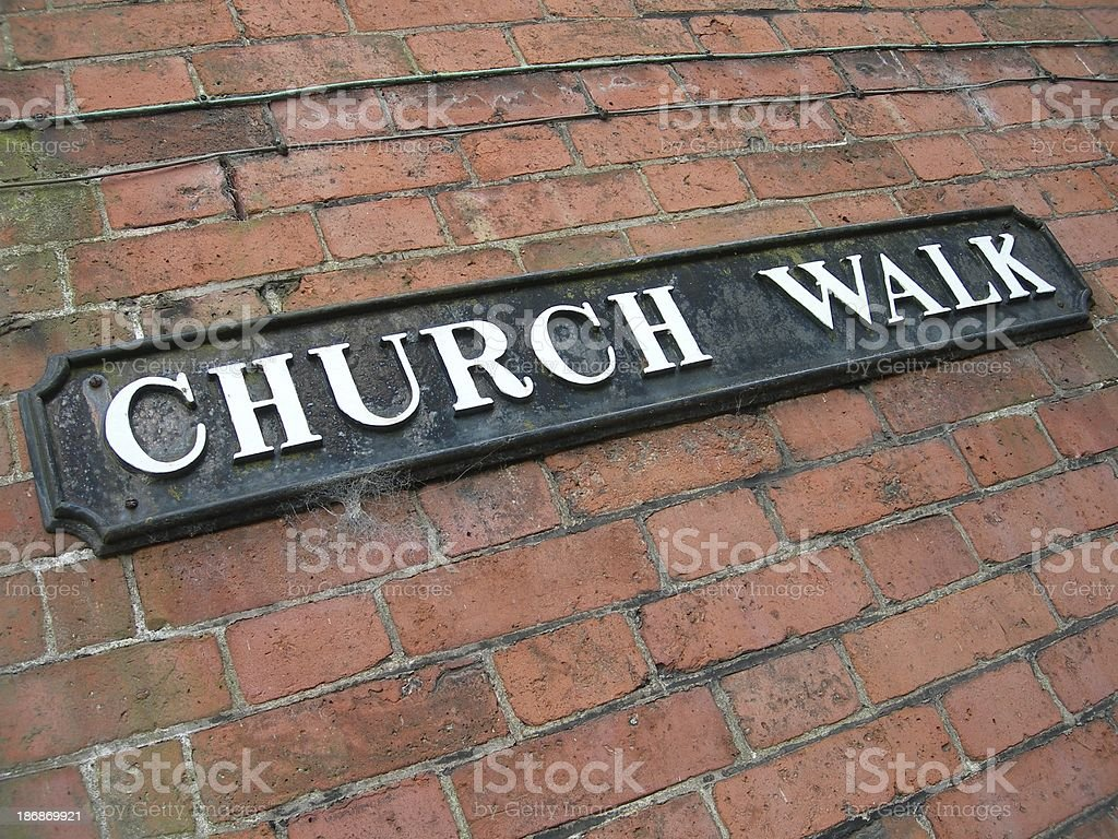 Church Walk royalty-free stock photo