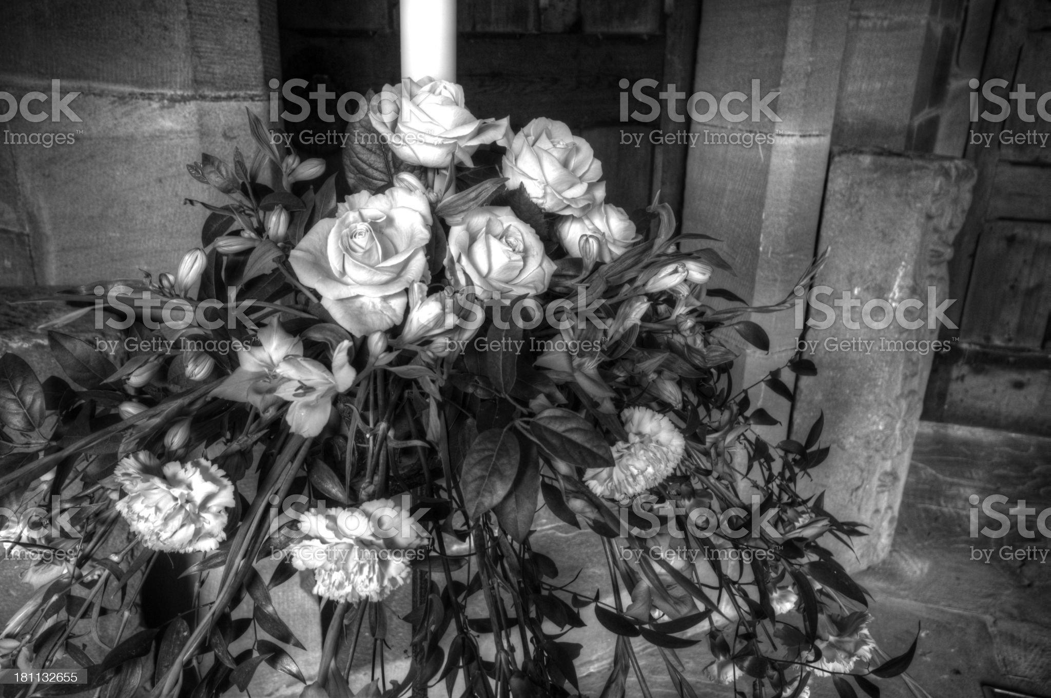 Church Wedding Flowers HDR royalty-free stock photo