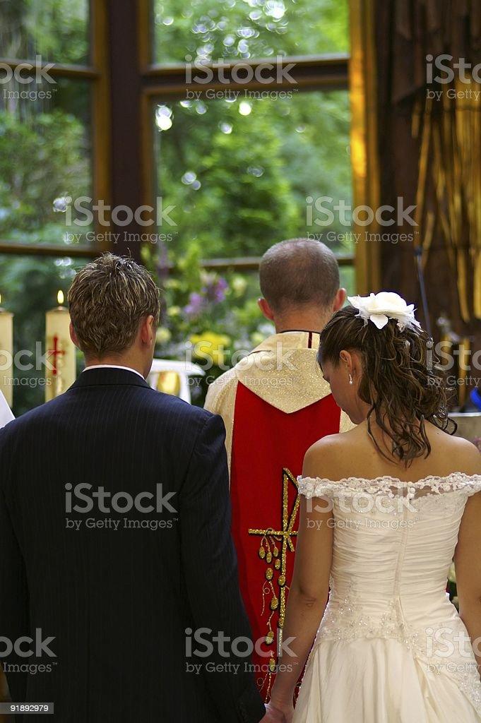 church wedding stock photo