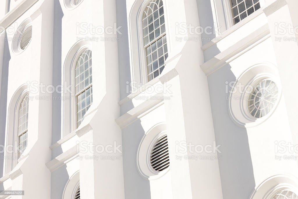 Church Window Building Facade stock photo