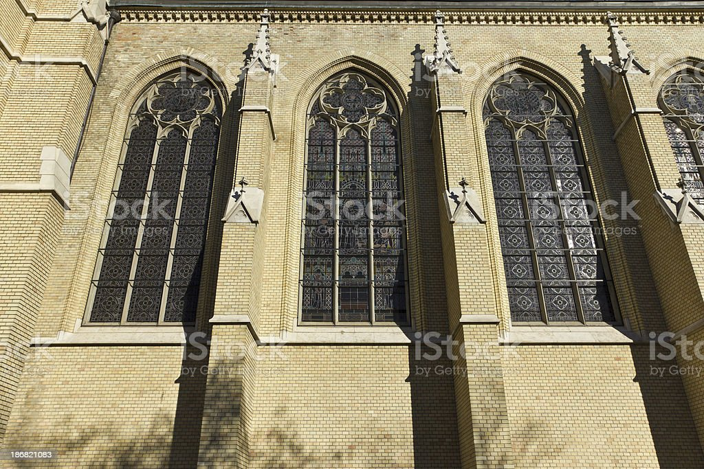 Church window in Budapest royalty-free stock photo