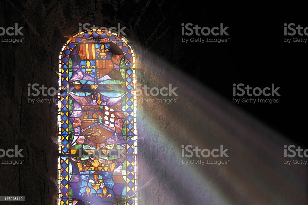 Church window stock photo