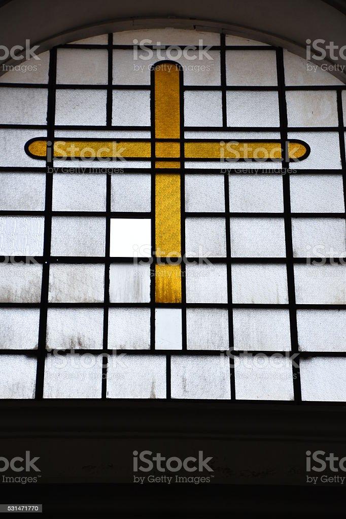 Church window stock photo