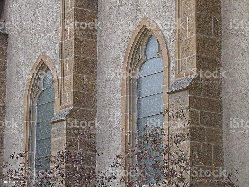 Church Windows royalty-free stock photo
