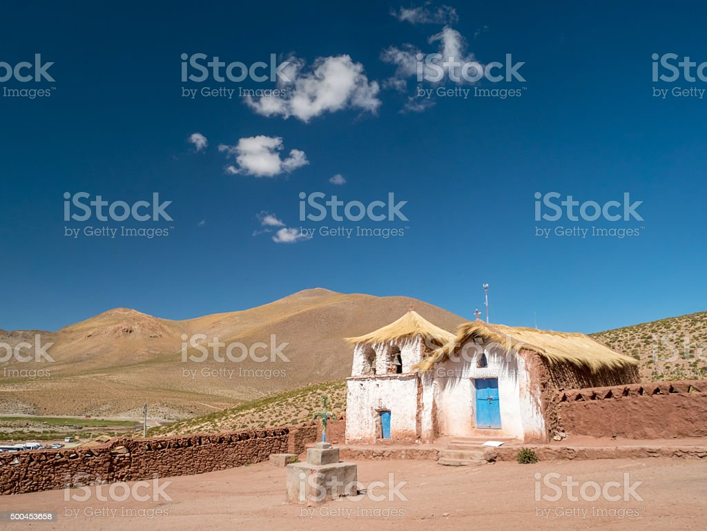 Church with a straw roof royalty-free stock photo