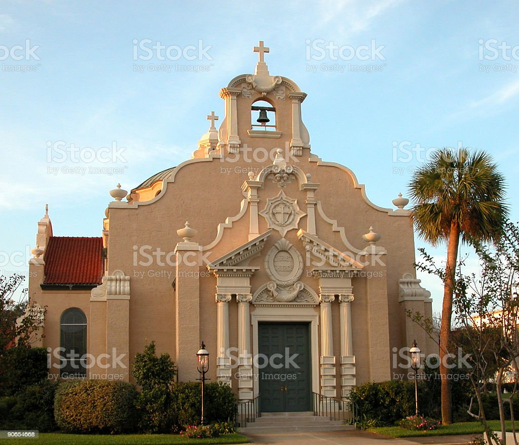 Church with bell tower royalty-free stock photo